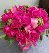 La Vie En Rose Vase Arrangement