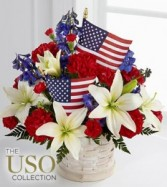 Labor Day Arrangement basket Patriotic