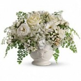 Lace & White Table Centerpiece