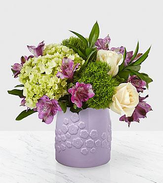 Lavender bliss ceramic vase