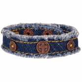 Ladies Denim Cross Bracelet