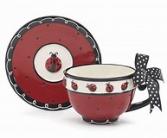 Lady Bug Tea Cup and Saucer burton+Burton