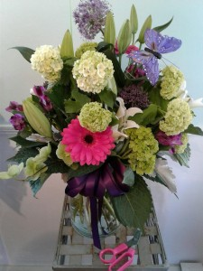 Lady Grace vased arrangement in Hingham, MA | HINGHAM SQUARE FLOWERS