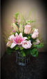 Lady in Pink Vase Arrangement