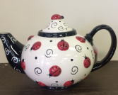 Ladybugs For Tea Teapot