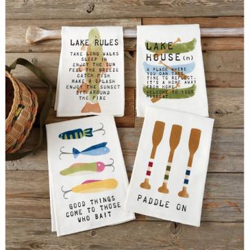 Lake Towels 4 Designs