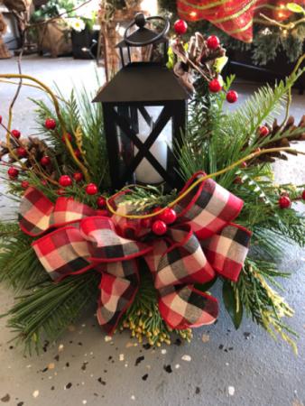 Christmas Lantern.The Rosebud Flowers Gifts
