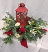 Lantern Centerpiece Fresh arrangement