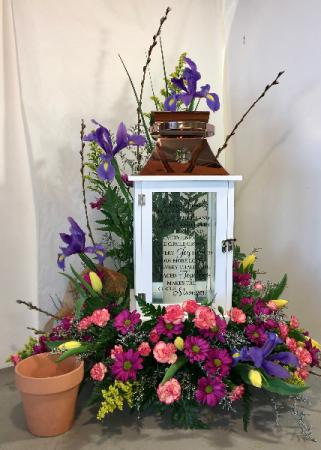Large Lantern Floral Example Arrangement