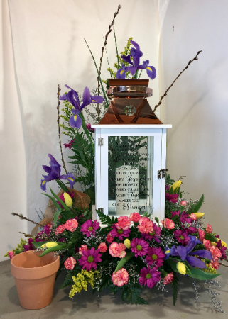 Large Lantern Floral Example Arrangement