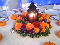 Lantern of Lights Thanksgiving Table Arrangement