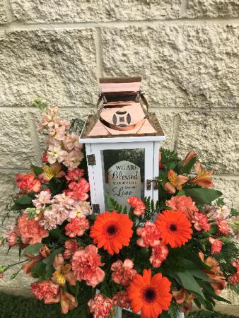 Small Lantern Floral Arrangement Example (Autumn)