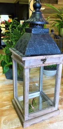 Lantern with Glass Bottom