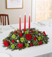 Large 3 candle traditional centerpiece