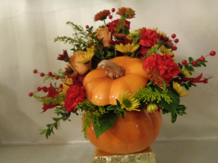 Large and Lovely Pumpkin Arrangement (local delivery only)