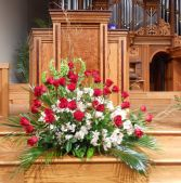 Large Arrangement church-front or casket