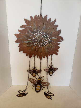 Large Bee Wind Chime Giftware