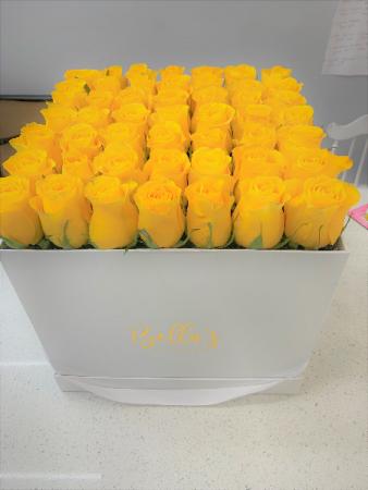 Large Box- Fresh Roses Yellow, Pink, Lavender, Orange