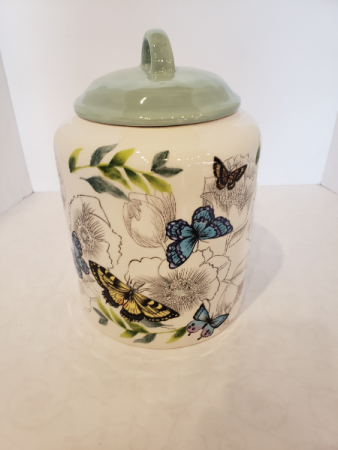 Large Butterfly Ceramic Jar Giftware