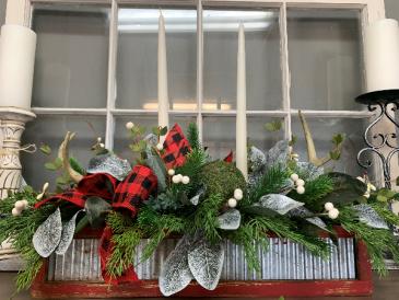 Large Christmas Centerpiece Silk Arrangement
