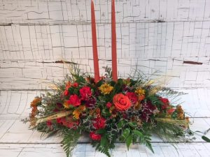 Large Cornucopia Arrangement for Thanksgiving or Fall! in Saint Louis, MO | Irene's Floral Design