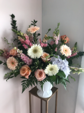 Large Custom House Style - Pastel Funeral arrangement
