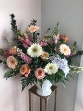 Large Custom House Style - Pastel Funeral arrangement