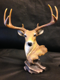 Large deer head and antlers Masculine decor