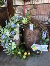 """Large Silk  """"Egg Hunt"""" Easter wreath"""