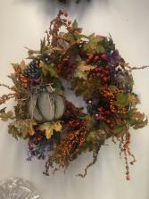 Large Fall Wreath Gift Item