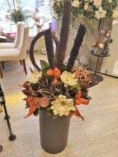 Gift-Large Floral Arrangement  comes with cylinder stand as shown