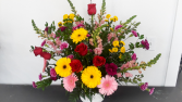 Large Custom House Style - Bright Funeral Arrangement