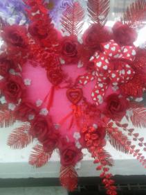 LARGE GLITTER VALENTINES HEART $29.99 CEMETERY HEART
