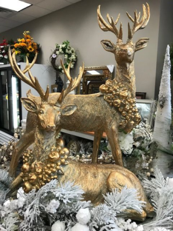 Large Gold Deer