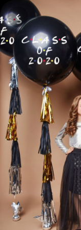 LARGE GRADUATION BALLOON AND TASSEL  Helium Balloon bouquet