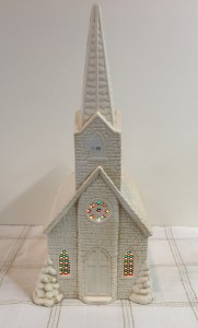 Large lighted Church Ceramic churchs