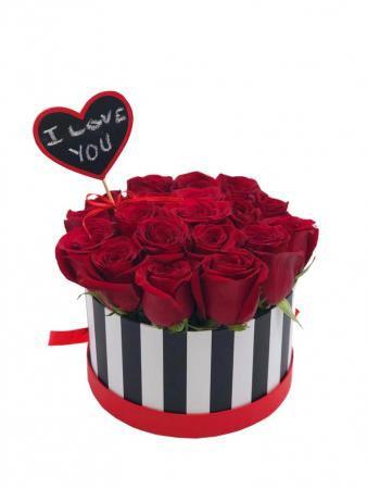 Love You Bucket Rose box