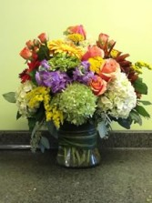 Large Lush Fall Bouquet Large Vase Arrangement