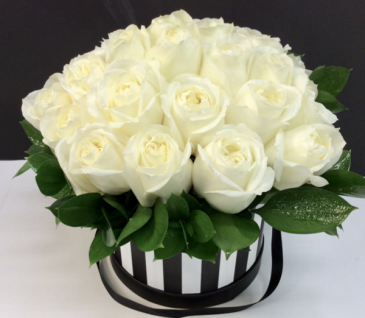 Large Magnificent Roses Hat Box
