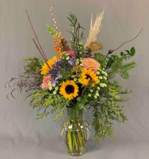 Mixed Flowers Vase Arrangement