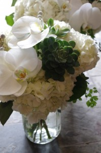 Monochrome Mason Jar Arrangement  in Toronto, ON | BOTANY FLORAL STUDIO