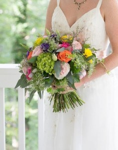 Colorful Wildflower Bridal Bqt in Bryson City, NC | Village Florist & Christian Book Store