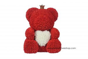 Large Red Rose Teddy Bear  in Bronx, NY | Bella's Flower Shop