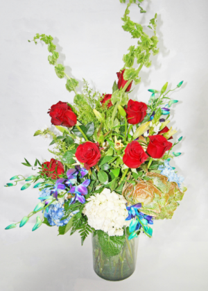 MODERN RED, WHITE & BLUE FLORAL Patriotic in West Palm Beach, FL | FLOWERS TO GO