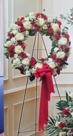 Large Red & White Wreath A28