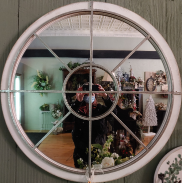 Large Round Country Chic Mirror