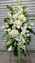 LARGE STANDING WHITE SPRAY 3 WAS $225.00/NOW $195.00