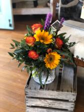 Rustic Sunflower Arrangments