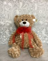 Large Teddy Bear with Red Bow  30
