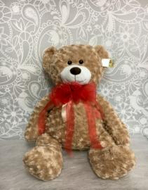 """Large Teddy Bear with Red Bow  30"""" Teddy Bear"""